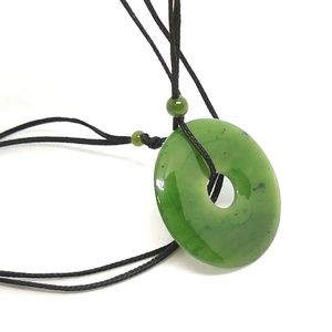 Natural Jadeite Donut necklace